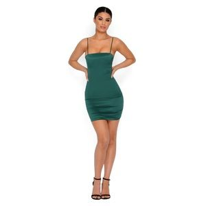 Oh polly Emerald green mini dress